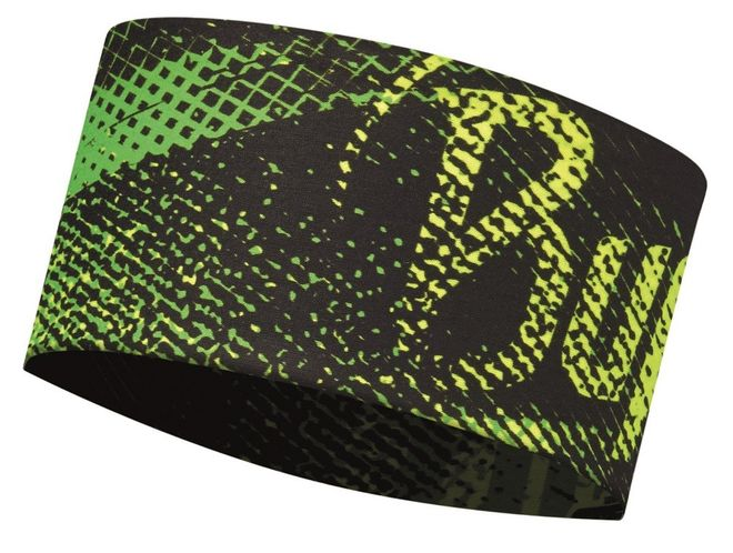Buff Coolmax Headband - flash logo yellow