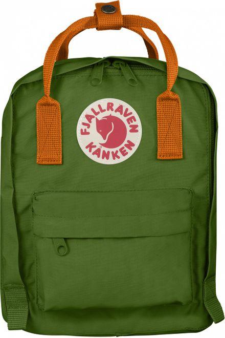 Fjällräven Kanken Kids Kinderrucksack - Leaf Green-Burnt Orange