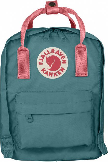 Fjällräven Kanken Kids Kinderrucksack - Frost Green-Peach Pink