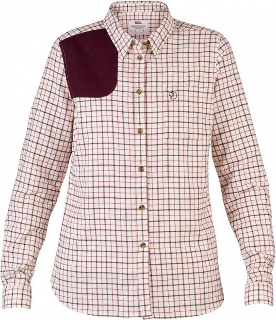 Fjällräven Sörmland Flannel Shirt LS Damen - Chalk White