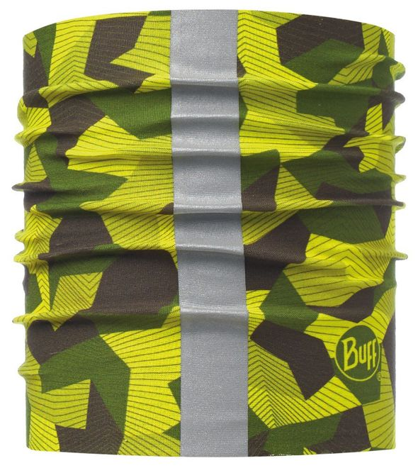 Buff Dog Reflective Halsband - block camo green