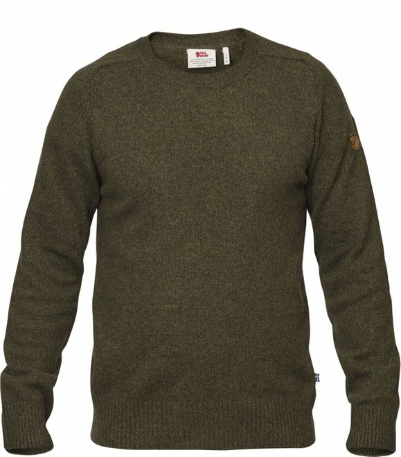 Fjällräven Övik Re Wool Sweater Herren Strickpullover - Dark Olive