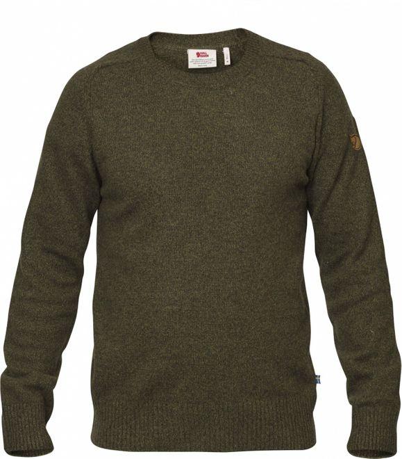 Fjällräven Övik Re Wool Sweater Herren Strickpullover - Dark Olive