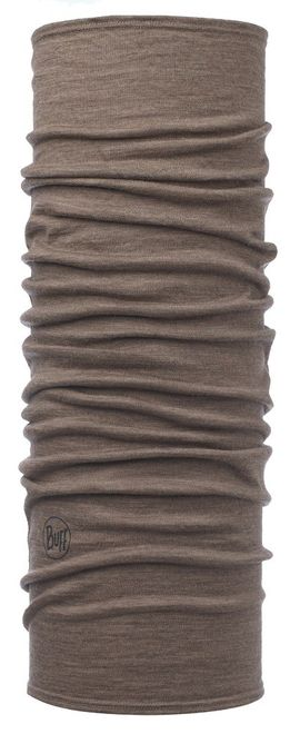 Buff Lightweight Merino Wool Schlauchtuch - solid walnut brown