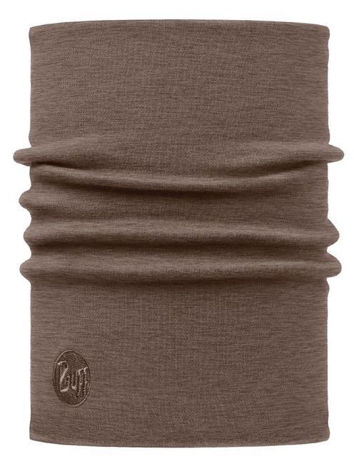 Buff Heavyweight Merino Wool Neckwarmer - solid walnut brown