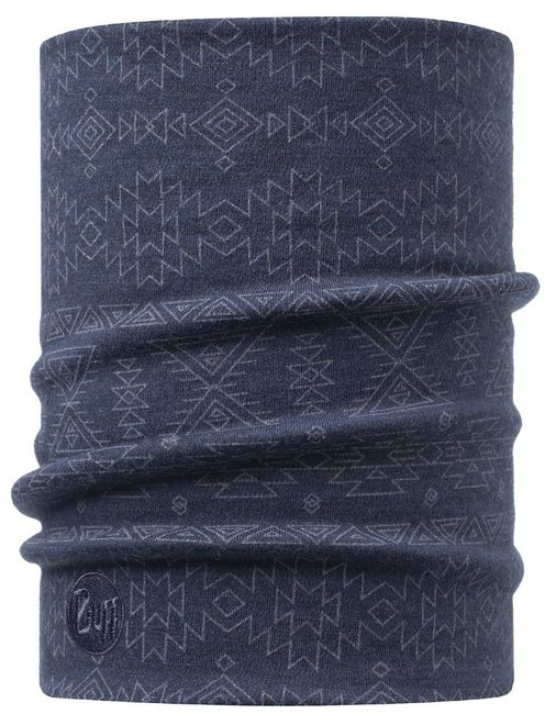 Buff Heavyweight Merino Wool Neckwarmer - edgy denim