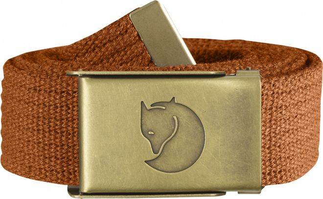 Fjällräven Canvas Brass Belt 3 cm - Autumn Leaf