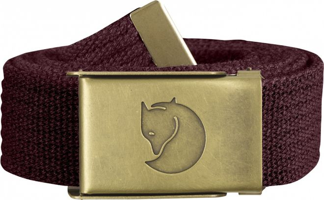 Fjällräven Canvas Brass Belt 3 cm Gürtel - Dark Garnet