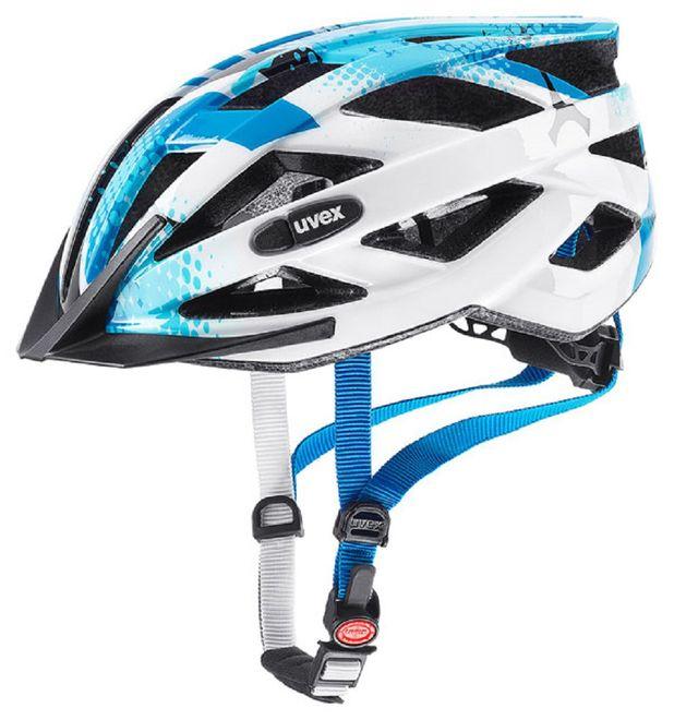 Uvex air wing Junior Fahrradhelm - blue-white – Bild 1