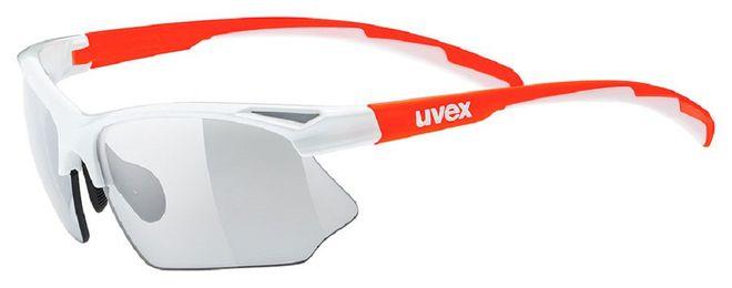 Uvex sportstyle 802 vario Radsportbrille - white orange/vario smoke