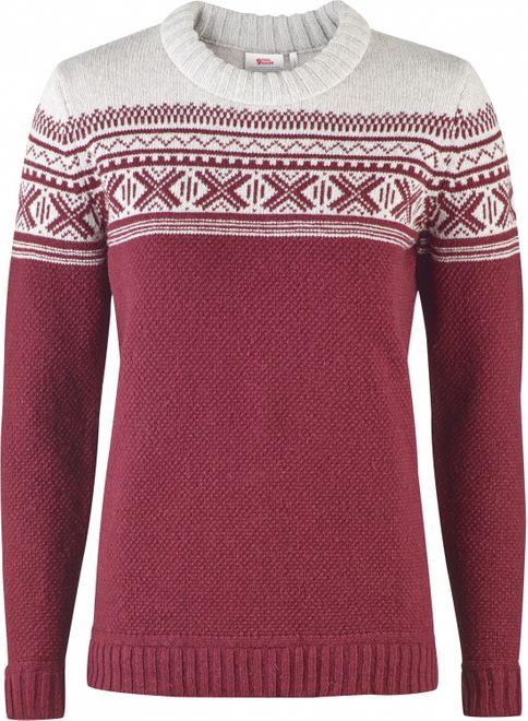 Fjällräven Övik Scandinavian Sweater Damen - Dark Garnet