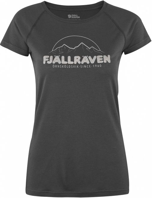 Fjällräven Abisko Trail T-Shirt Print Damen - Dark Grey