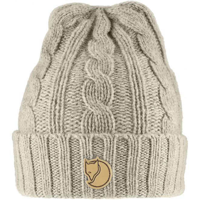 Fjällräven Braided Knit Hat Strickmütze - Chalk White