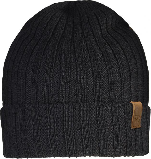 Fjällräven Byron Hat Thin Rippenstrickmütze - Black OneSize