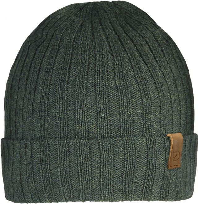 Fjällräven Byron Hat Thin Rippenstrickmütze - Dark Olive OneSize