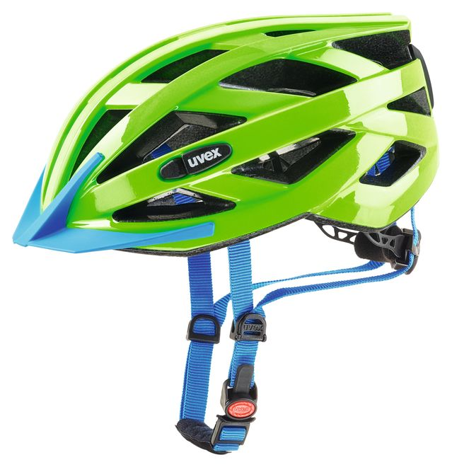 Uvex air wing LED Fahrradhelm - neon green