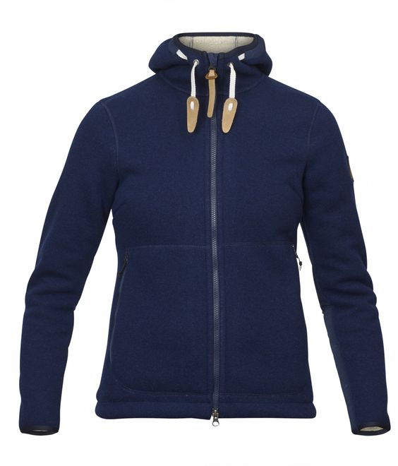 Fjällräven Polar Expedition Fleece Damen Kapuzenpullove - Navy – Bild 1