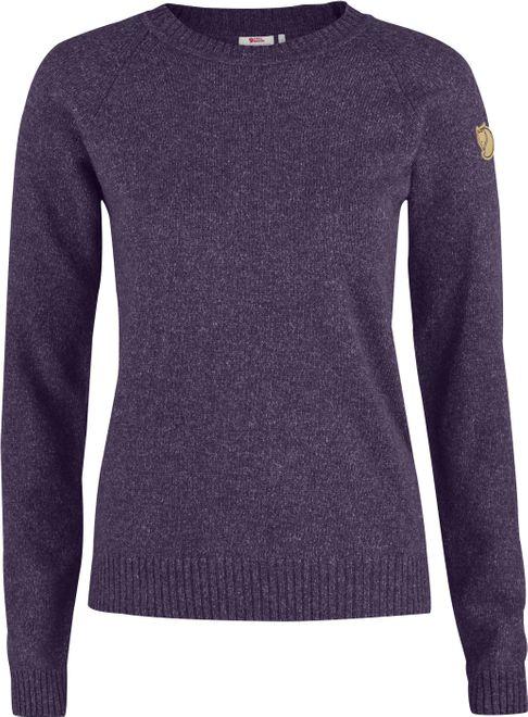 Fjällräven Övik Re Wool Sweater Damen Strickpullover - Alpine Purple
