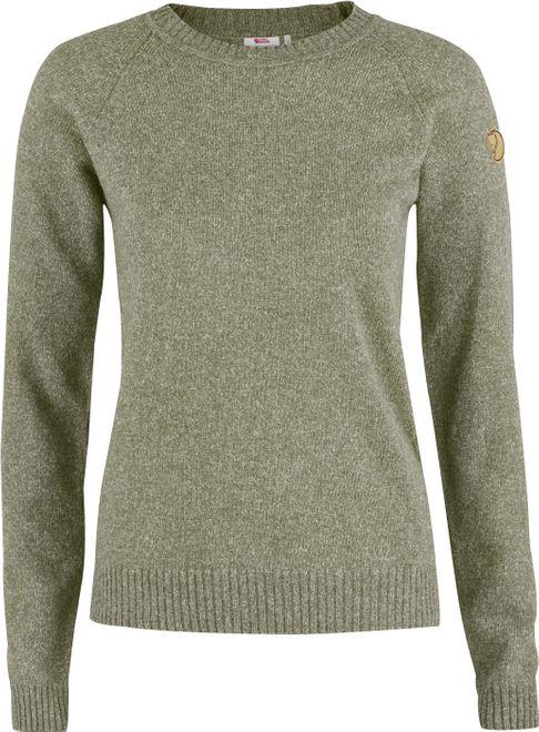Fjällräven Övik Re Wool Sweater Damen Strickpullover - Frost Green