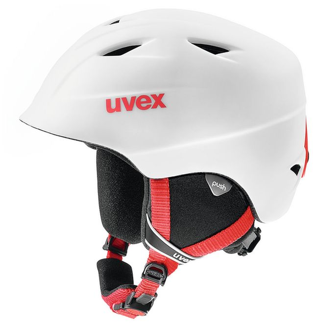 Uvex airwing 2 pro Junior Skihelm - white-red mat