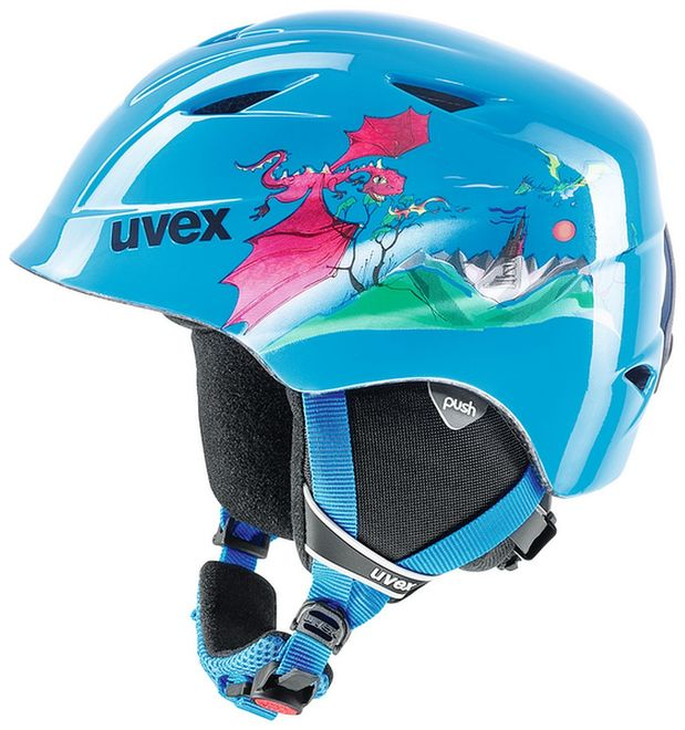 Uvex airwing 2 Junior Skihelm - blue dragon