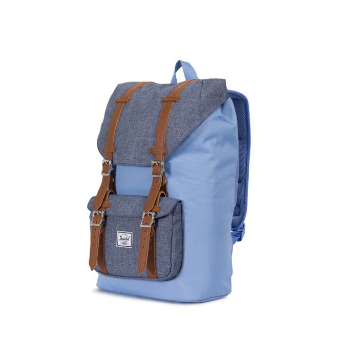 Herschel Little America Mid-Volume Rucksack - Hydrangea/Dark Chambray Crosshatch – Bild 1