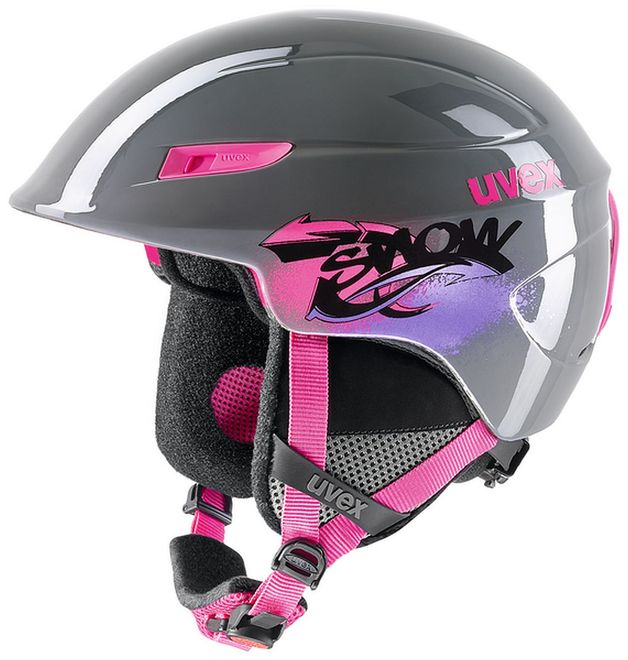 Uvex u-kid Junior Skihelm - grey-pink
