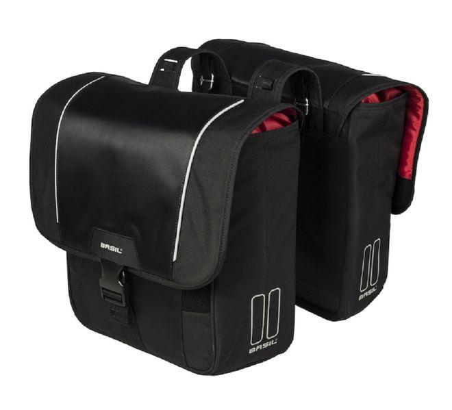 Basil Fahrrad Doppelpacktasche Sport Design - schwarz