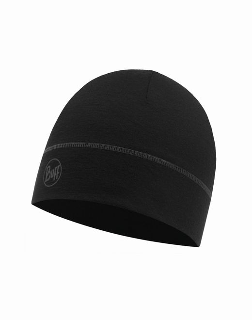 Buff Lightweight Merino Wool Hat - solid black