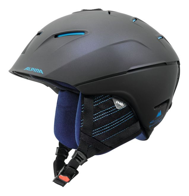 Alpina Cheos Skihelm - nightblue-denim matt
