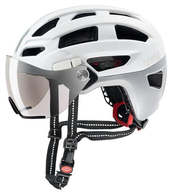 Uvex finale visor Fahrrad Helm - white-silver mat