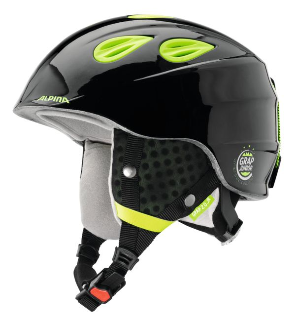 Alpina Grap 2.0 Junior Jugend-Skihelm - black-neon-yellow