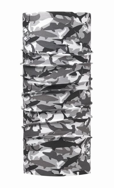 Buff Original Schlauchtuch High UV Protection - shark camo grey
