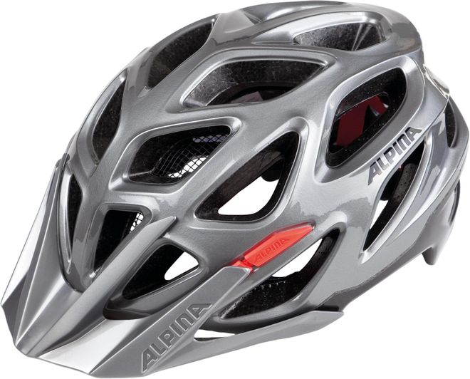 Alpina Fahrradhelm Mythos 3.0 - darksilver black red
