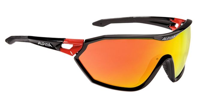 Alpina S-WAY CM+ Sportbrille - black-red