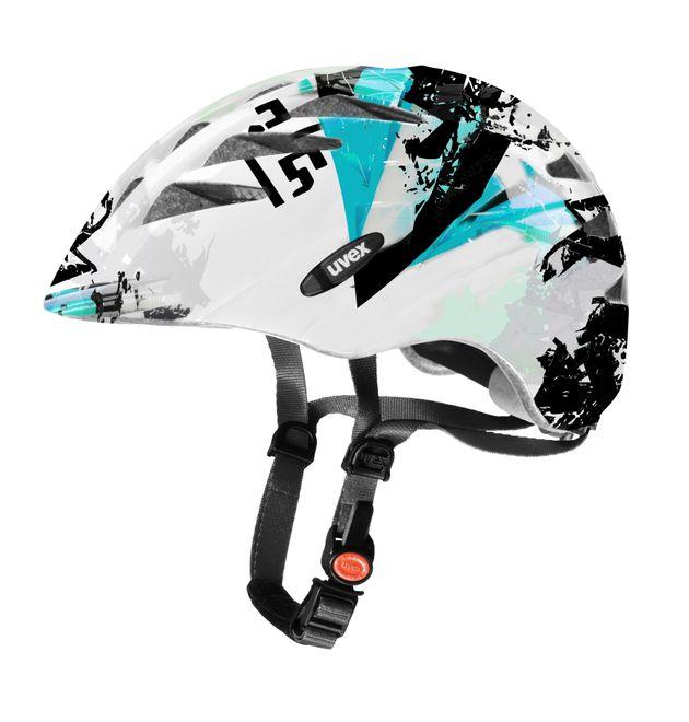 Uvex Fahrrad Helm uvision junior - white-turquoise