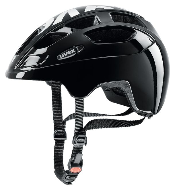 Uvex Fahrrad Helm finale jr. LED - black white