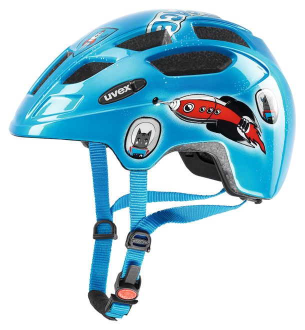Uvex finale junior LED Fahrrad Helm - space rocket – Bild 1