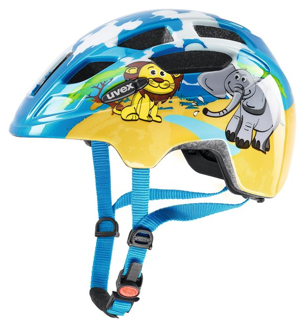 Uvex finale junior LED Fahrrad Helm - safari