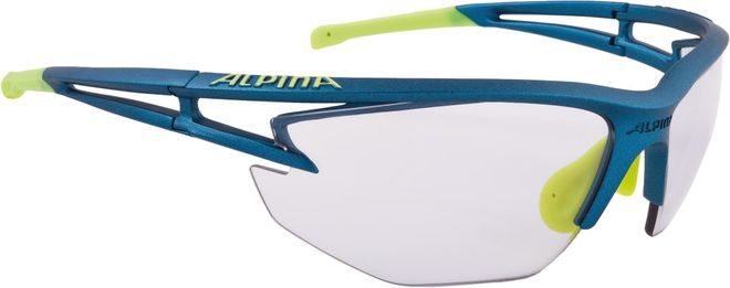 Alpina Sportbrille Eye-5 HR VL+ -  blue matt-neonyellow - VARIOFLEX+ black - one size