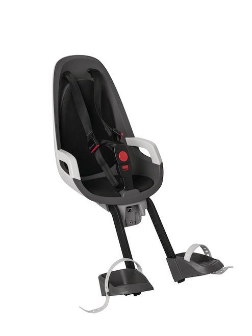 HAMAX Fahrrad Kindersitz Caress Observer - grau/weiß/schwarz