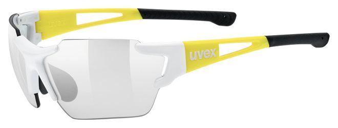 Uvex Radsportbrille sportstyle 803 race small vm S1-3- white yellow/ variomatic litemirror silver