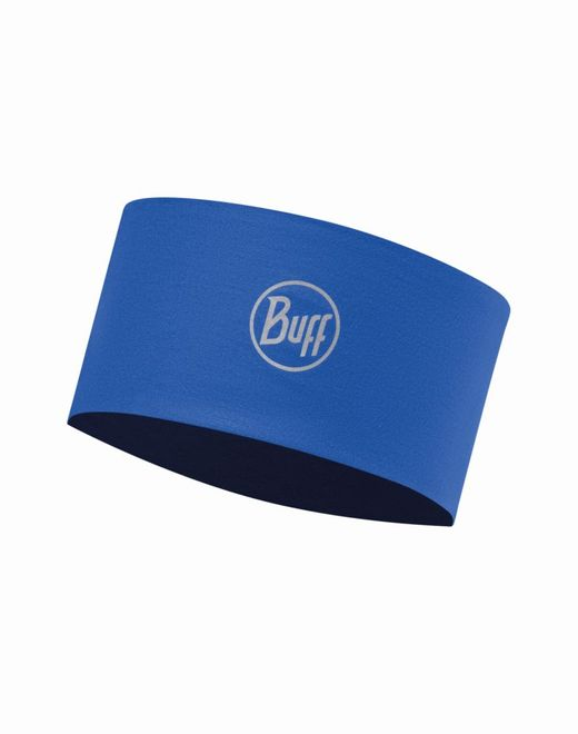 Buff Coolmax Headband Reflective - solid cape blue