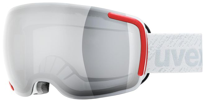 uvex Skibrille big 40 LM, white mat - double lens spheric litemirror silver - one size