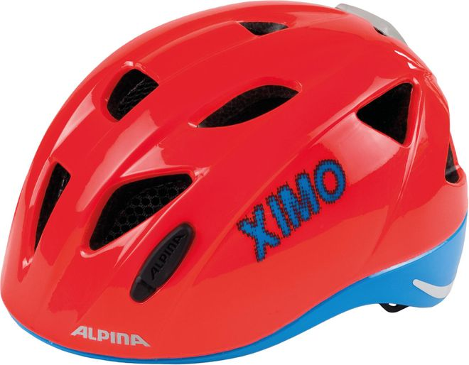 Alpina Kinder Fahrradhelm Ximo Flash - neon red blue