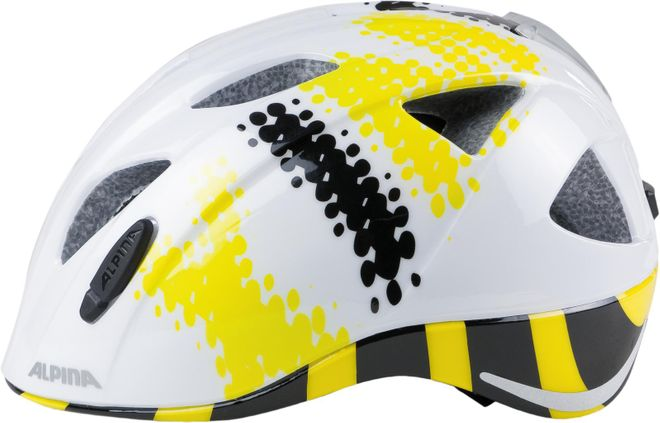 Alpina Kinder Fahrradhelm Ximo Flash - white black yellow – Bild 1