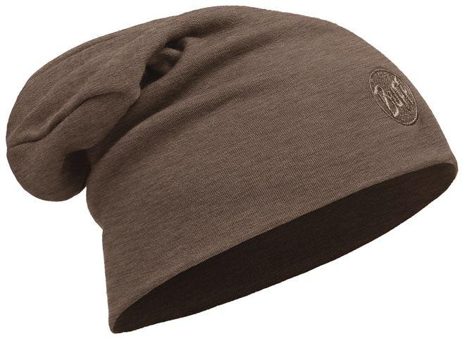 Buff Heavyweight Merino Wool Loose Hat - solid walnut brown