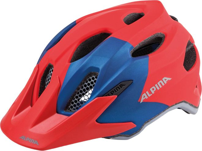 Alpina Fahrrad Helm Carapax Jr. Junior - red blue