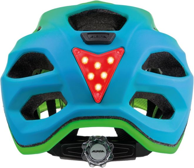 Alpina Fahrrad Helm Carapax Jr. Flash - green blue – Bild 2