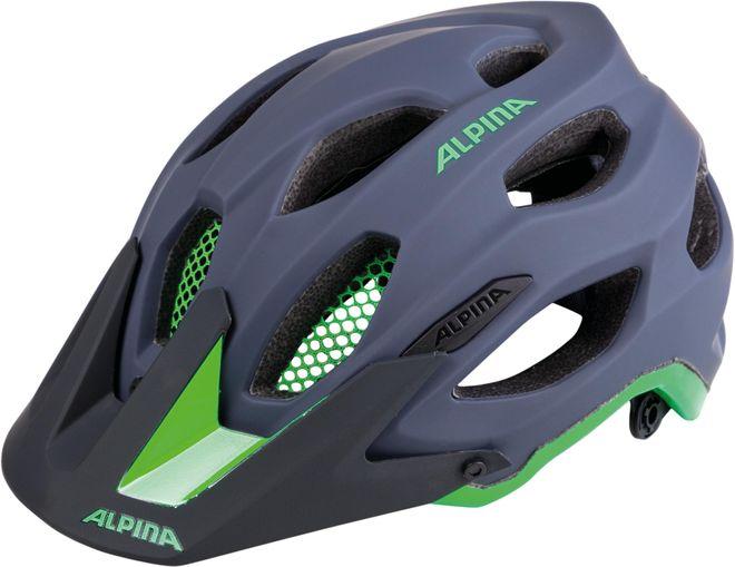 Alpina Fahrrad Helm Carapax - charcoal green
